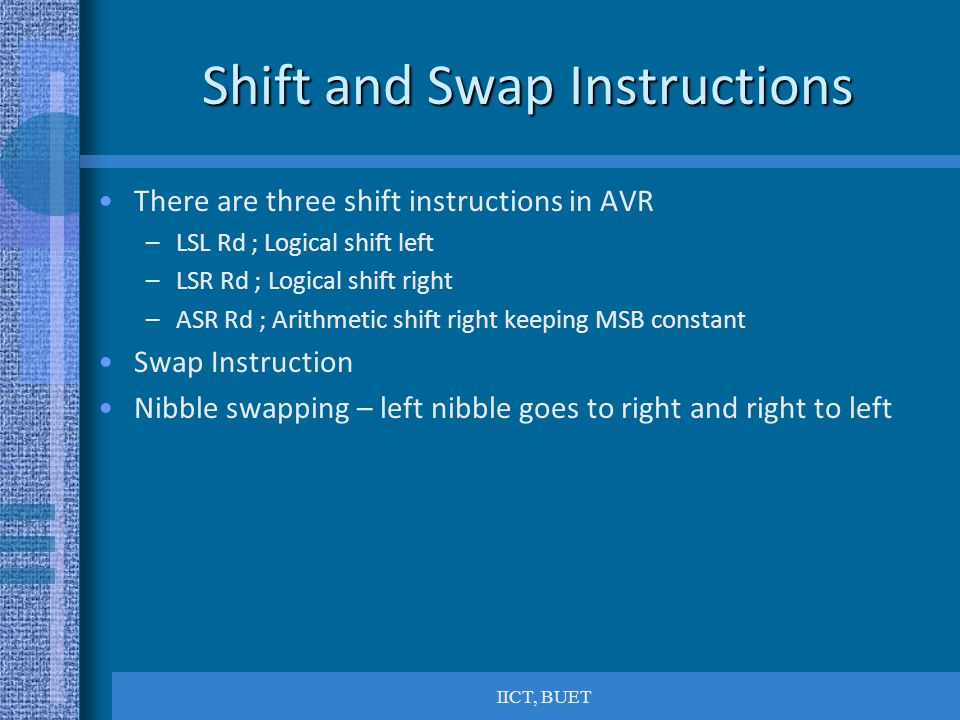 Shift and Swap Instructions