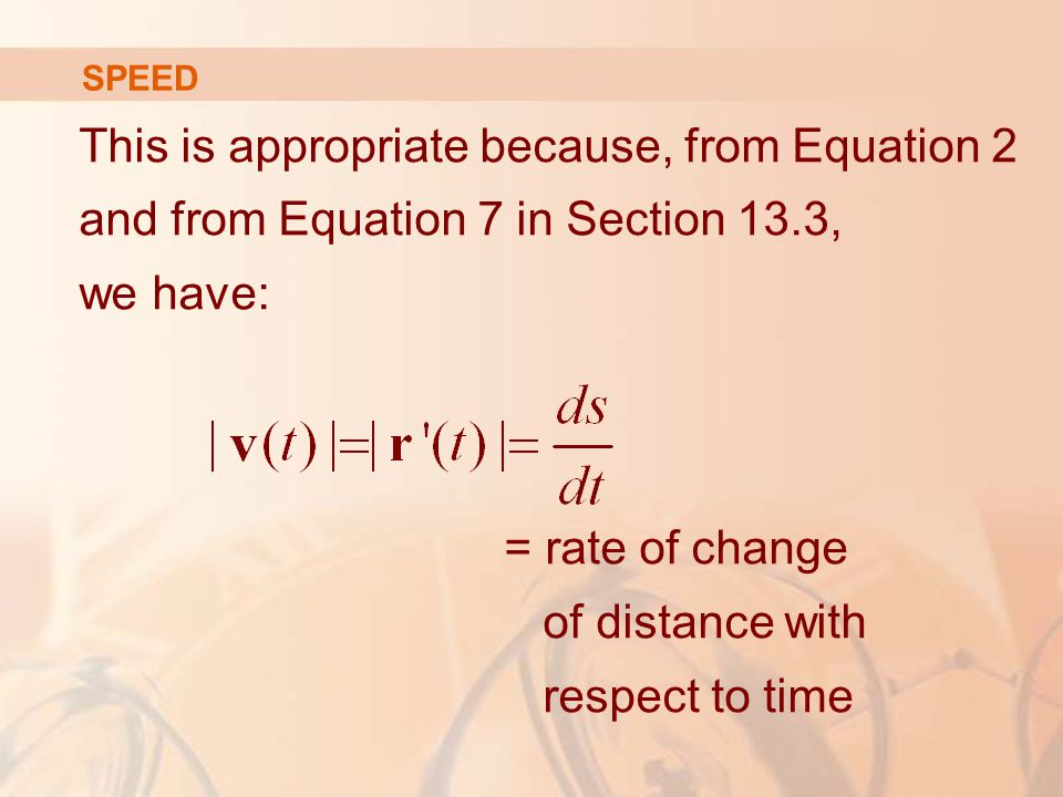 = rate of change of distance with respect to time