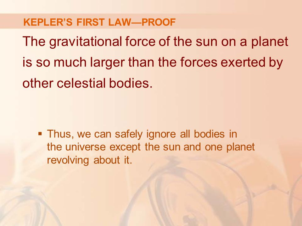 KEPLER'S FIRST LAW—PROOF