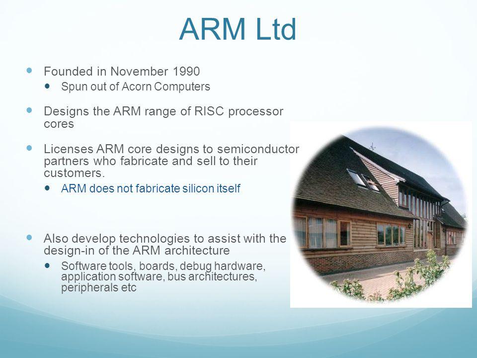 ARM Ltd Founded in November 1990