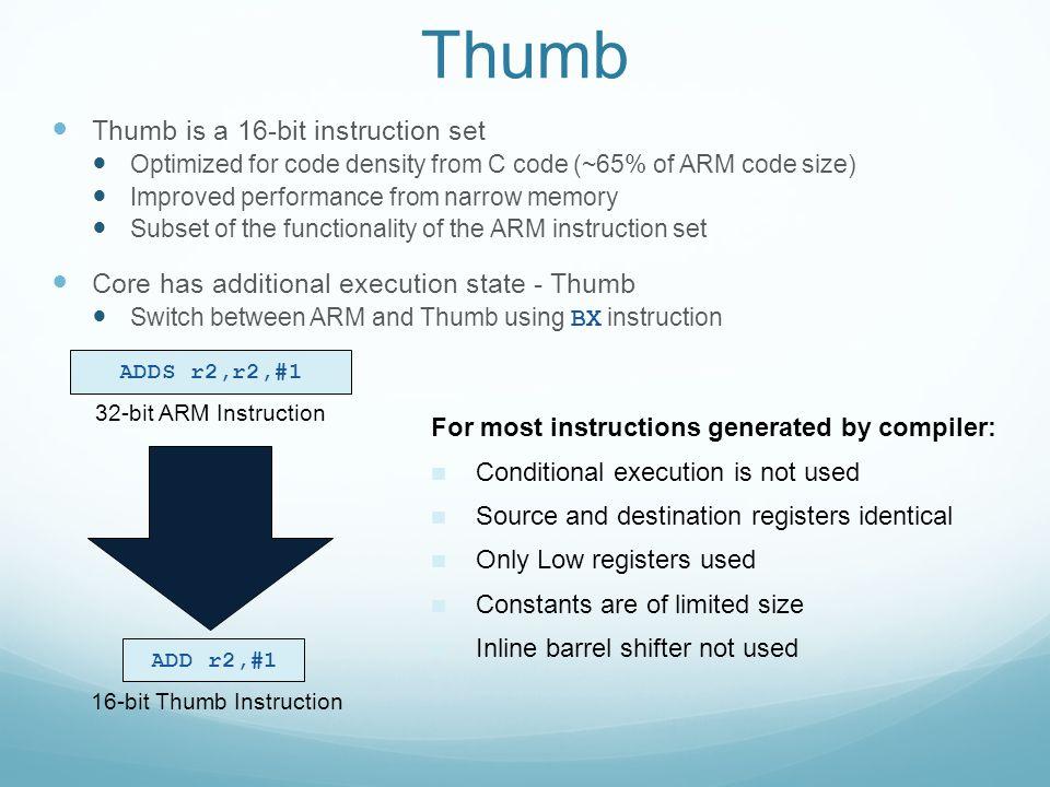 16-bit Thumb Instruction