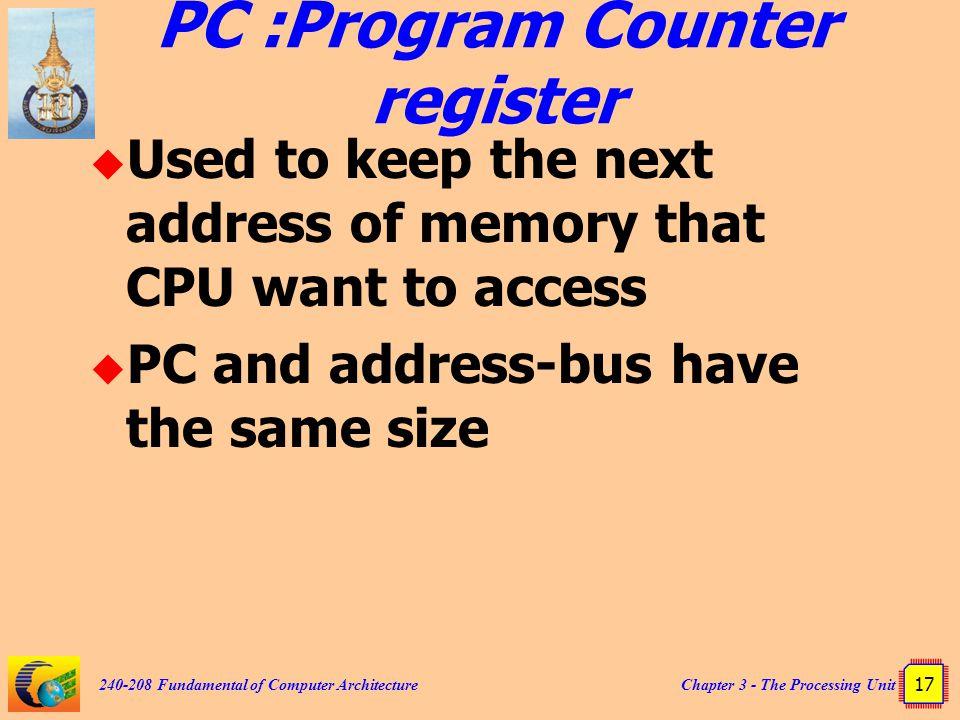 PC :Program Counter register