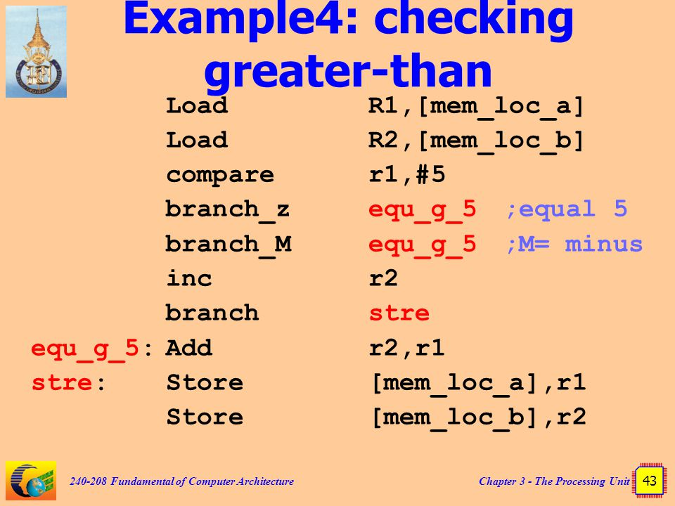 Example4: checking greater-than