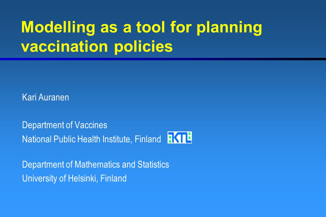 Modelling as a tool for planning vaccination policies
