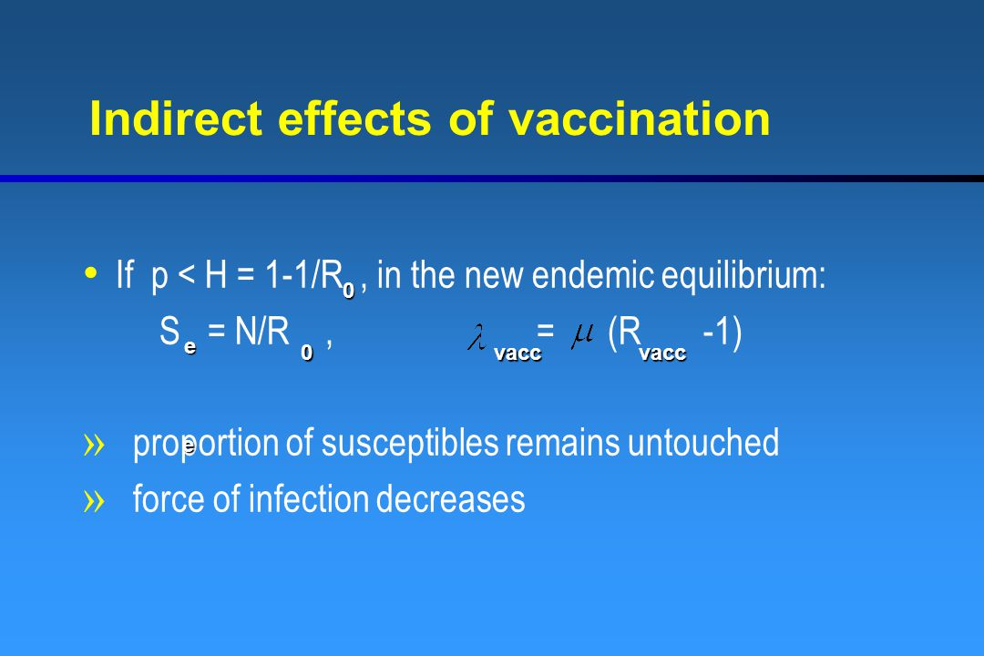Indirect effects of vaccination
