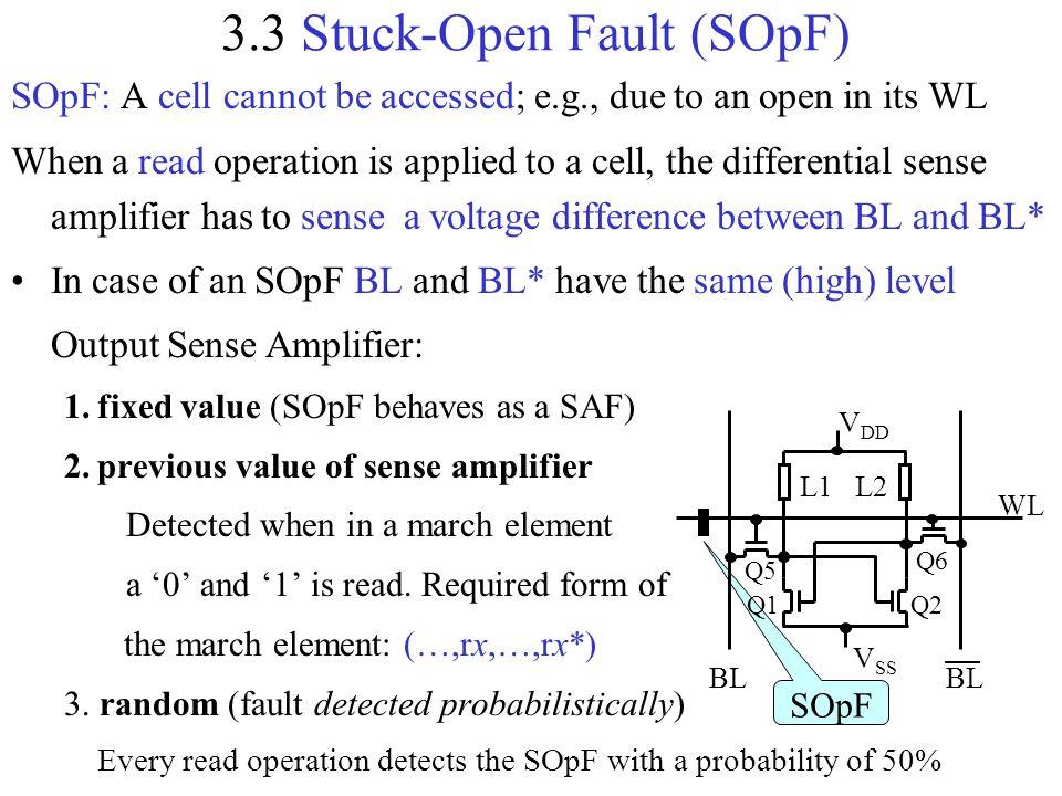3.3 Stuck-Open Fault (SOpF)