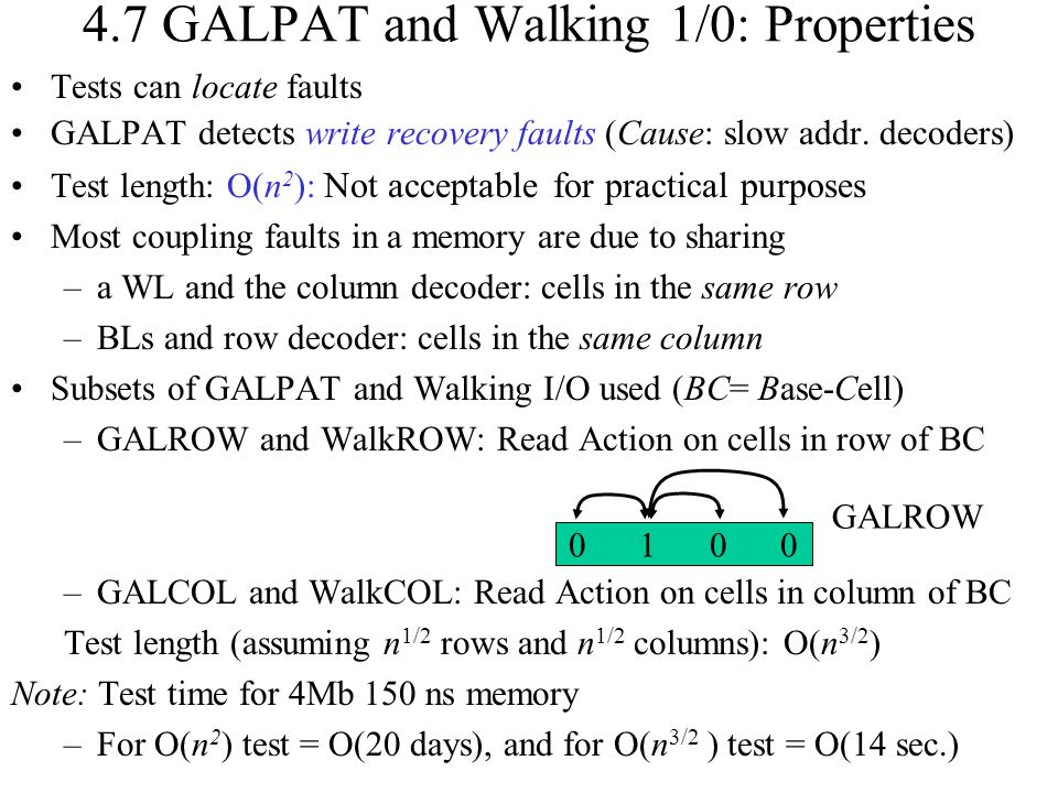 4.7 GALPAT and Walking 1/0: Properties