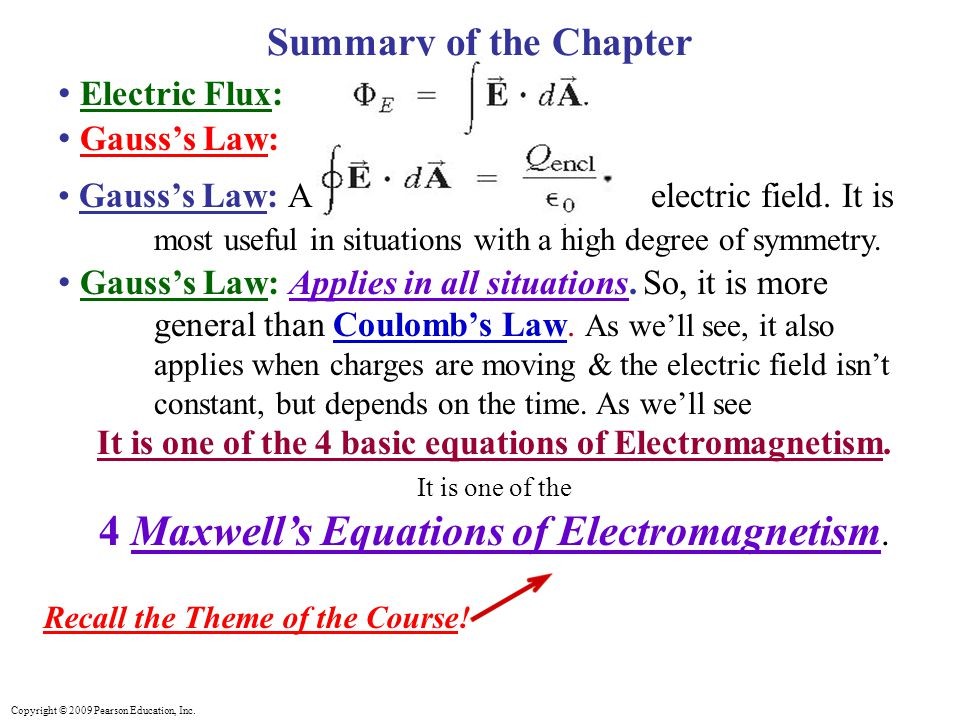 It is one of the 4 basic equations of Electromagnetism.