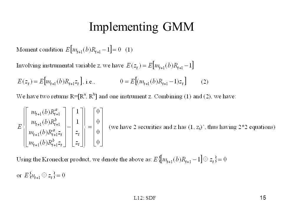 Implementing GMM L12: SDF
