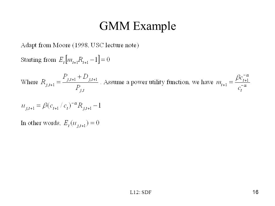 GMM Example L12: SDF