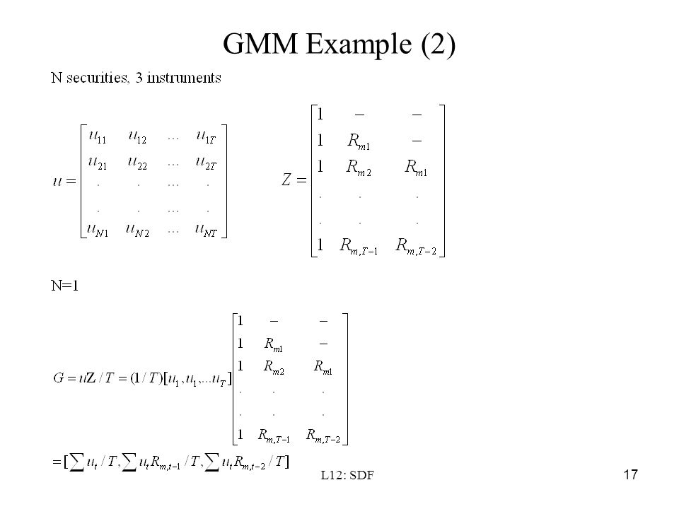 GMM Example (2) L12: SDF