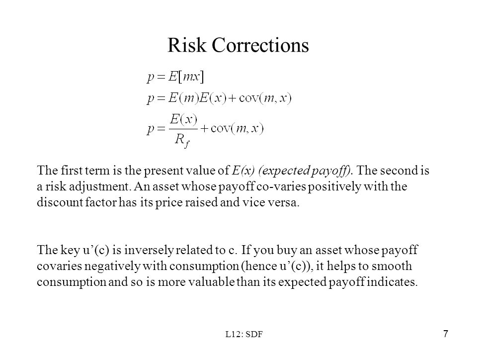 Risk Corrections
