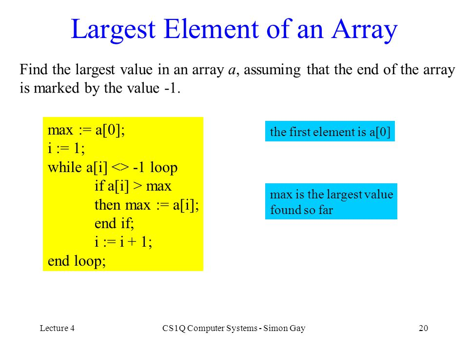 Largest Element of an Array