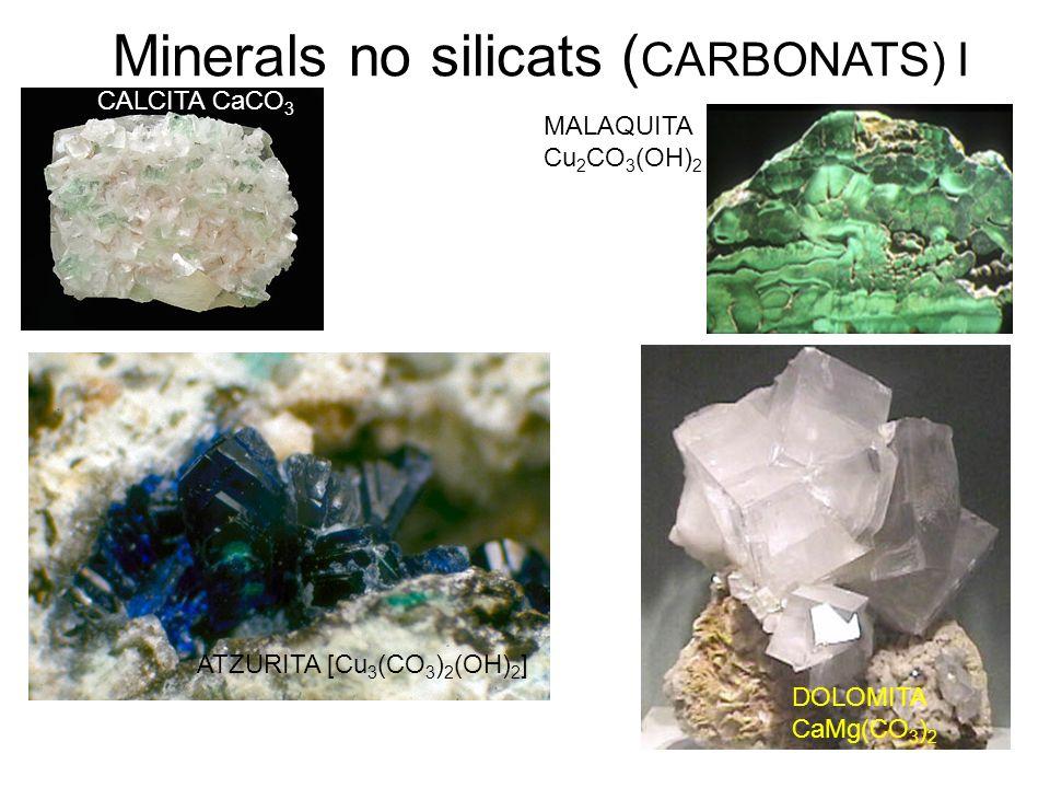 Minerals no silicats (CARBONATS) I