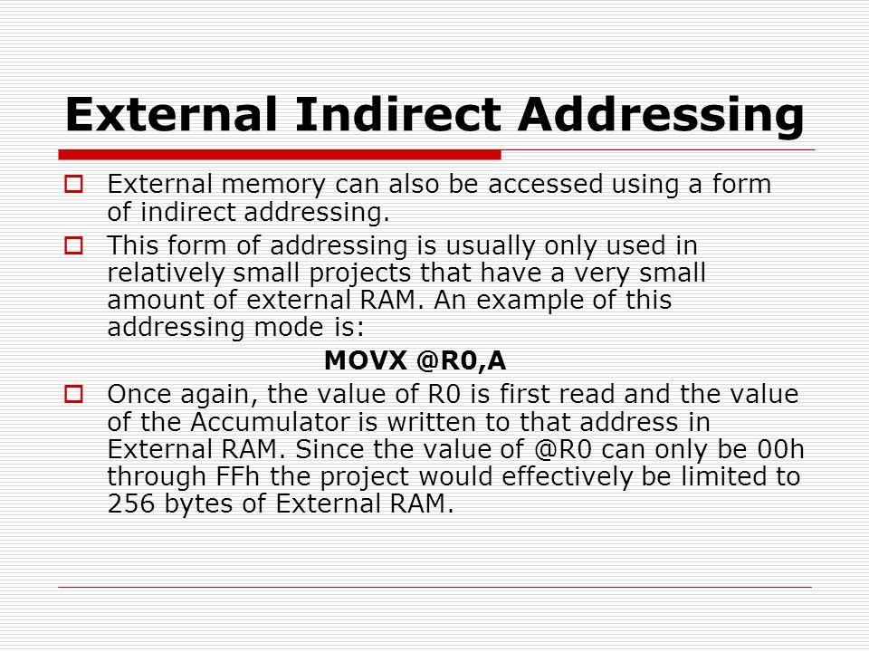 External Indirect Addressing
