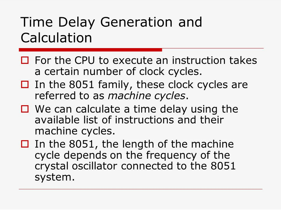 Time Delay Generation and Calculation