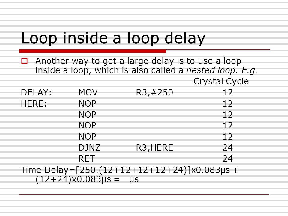 Loop inside a loop delay