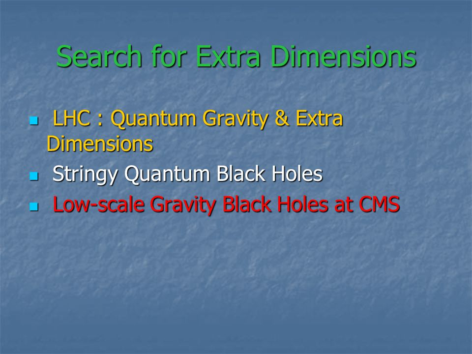 Search for Extra Dimensions