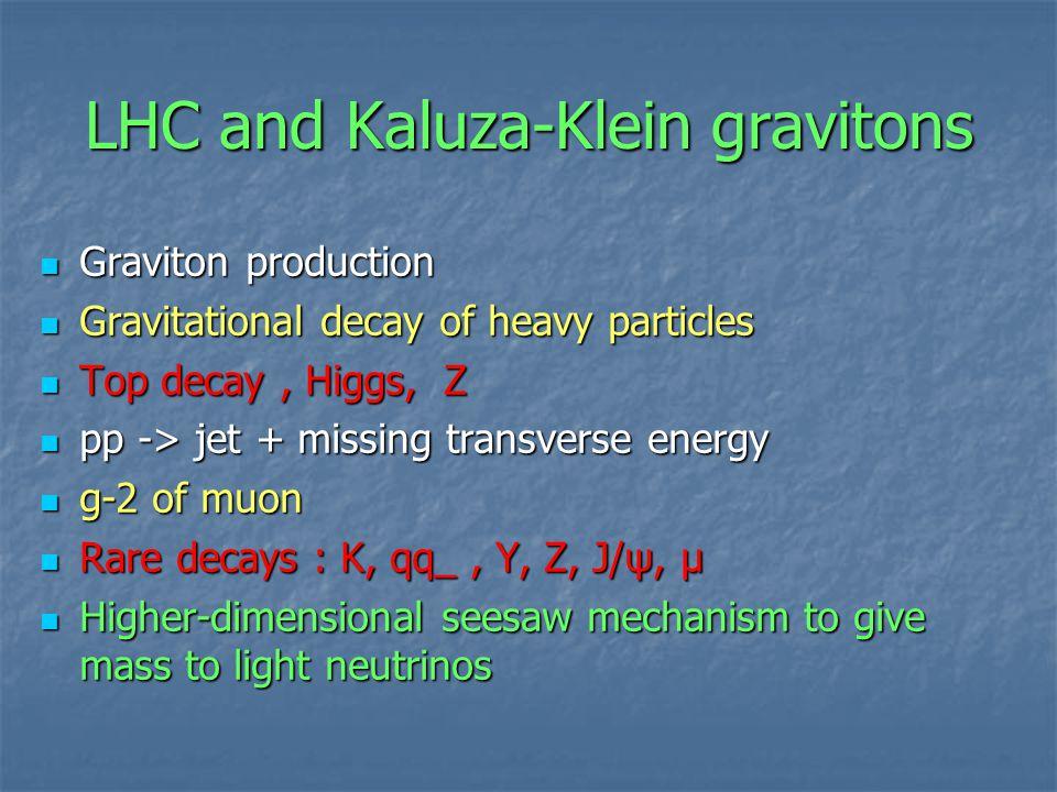 LHC and Kaluza-Klein gravitons