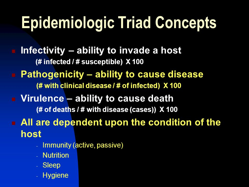 Epidemiologic Triad Concepts
