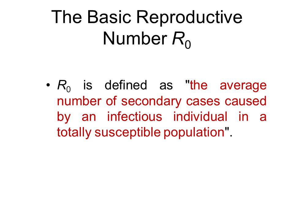 The Basic Reproductive Number R0