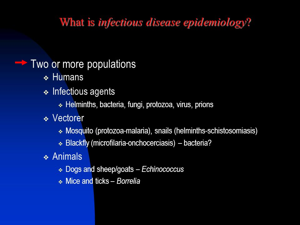 What is infectious disease epidemiology