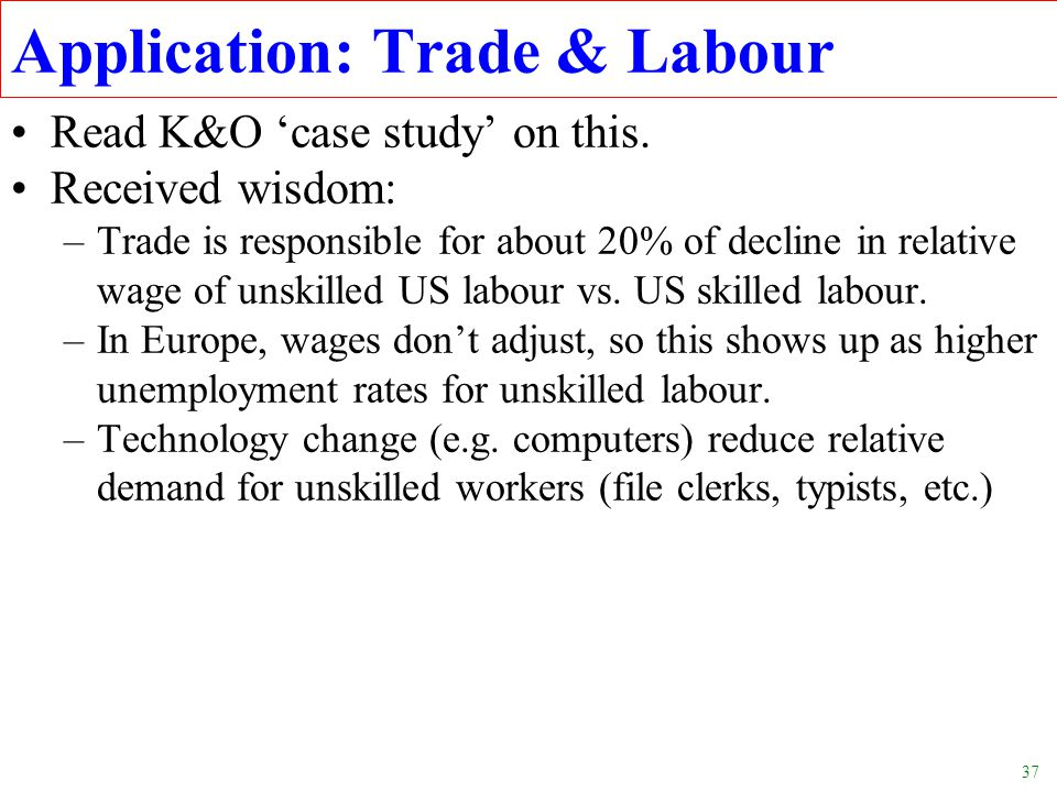 Application: Trade & Labour