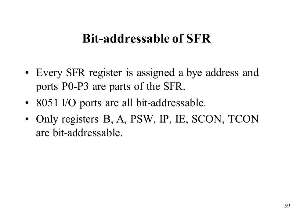 Bit-addressable of SFR