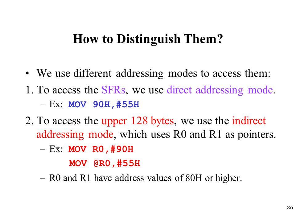 How to Distinguish Them
