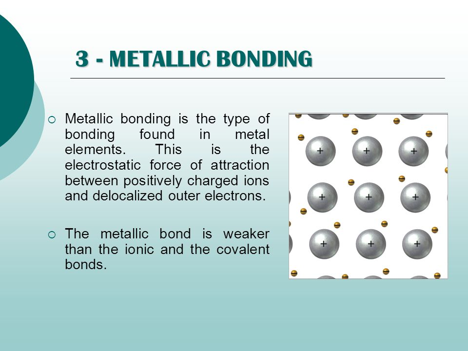 3 - METALLIC BONDING