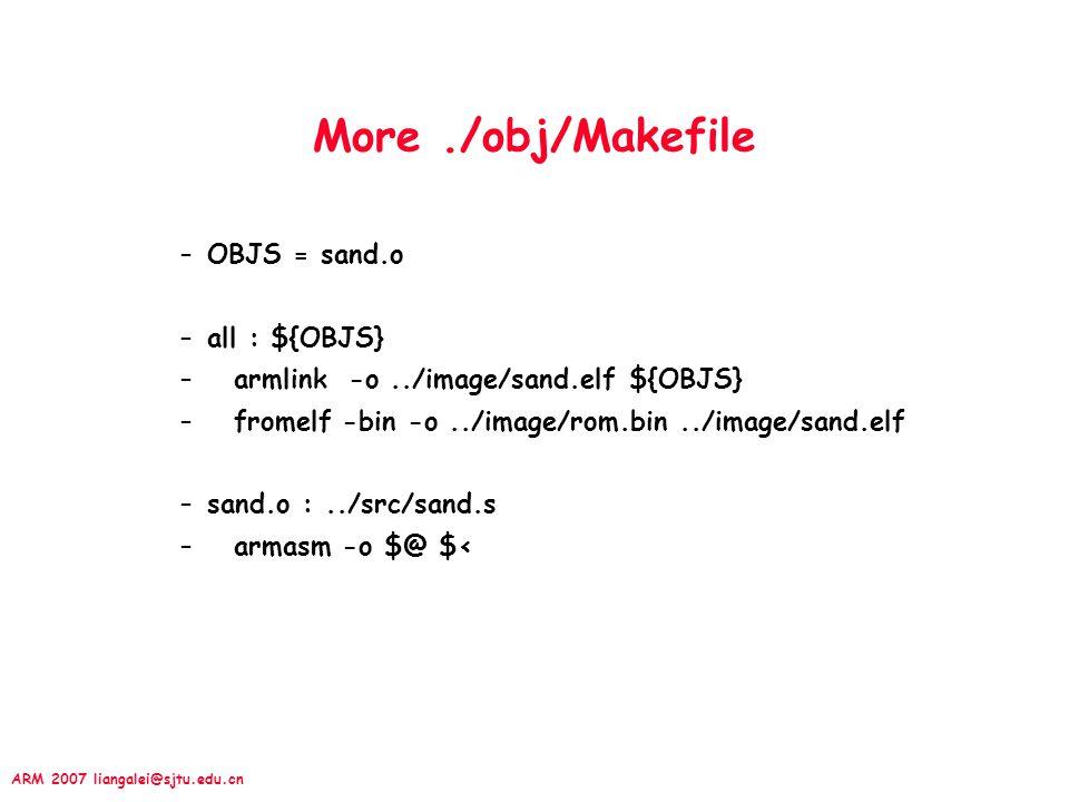 More ./obj/Makefile OBJS = sand.o all : ${OBJS}