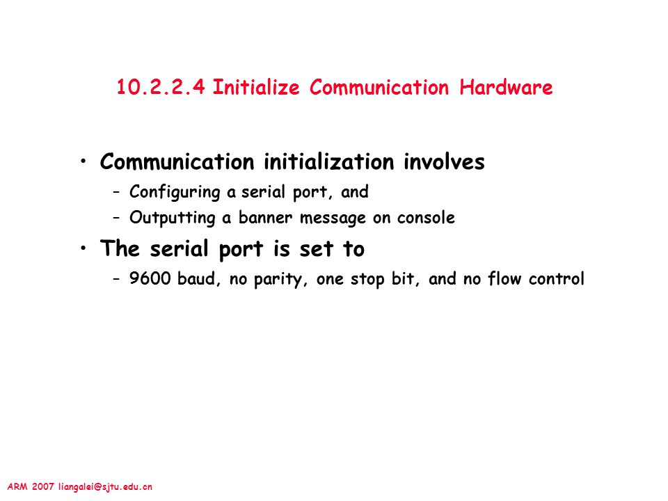 10.2.2.4 Initialize Communication Hardware