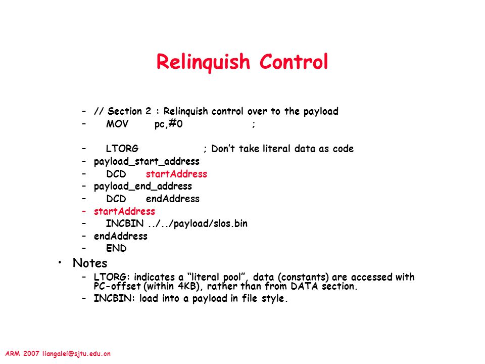 Relinquish Control Notes