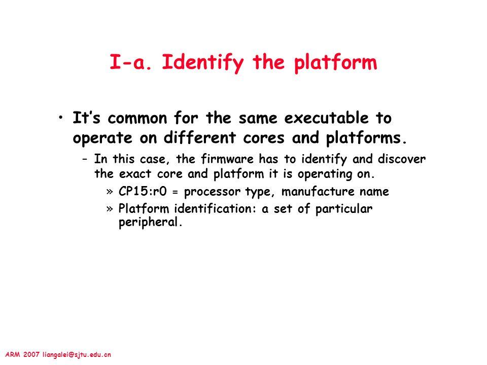 I-a. Identify the platform
