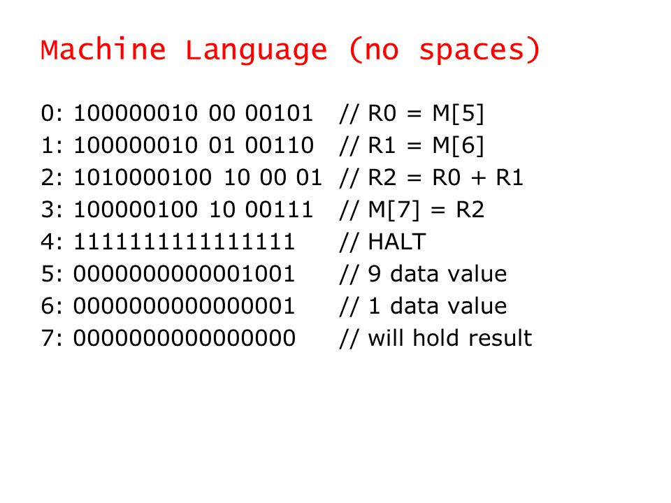 Machine Language (no spaces)