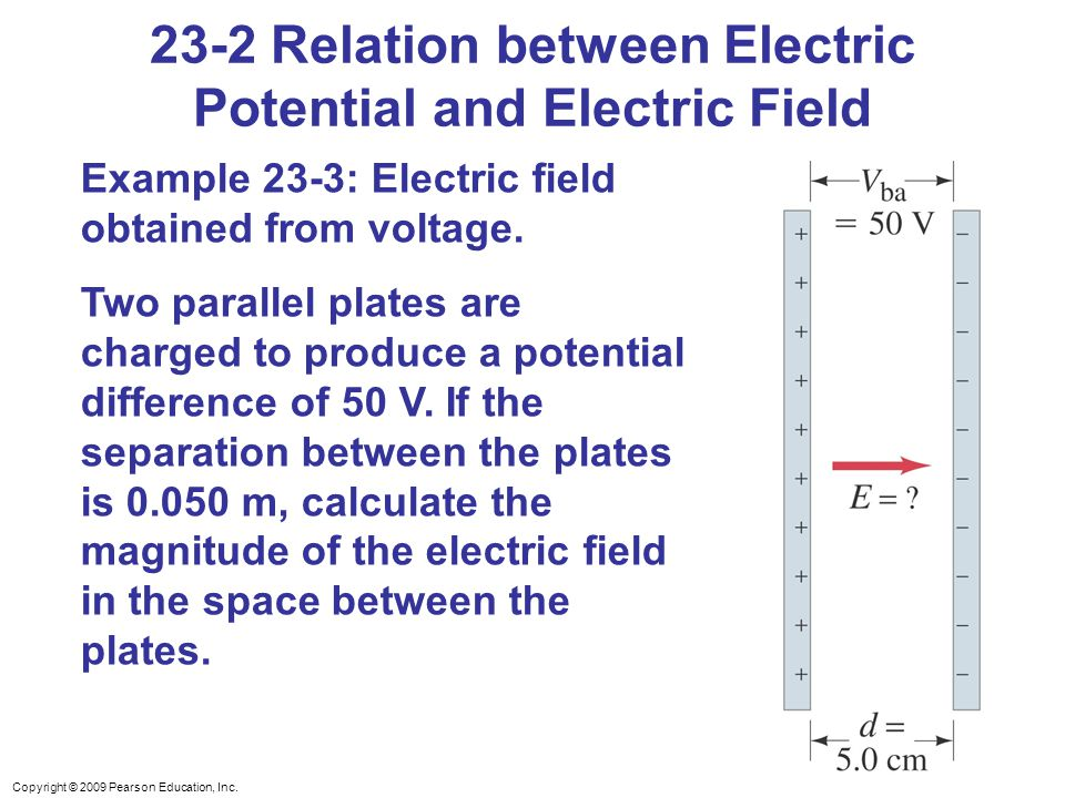 23-2 Relation between Electric Potential and Electric Field