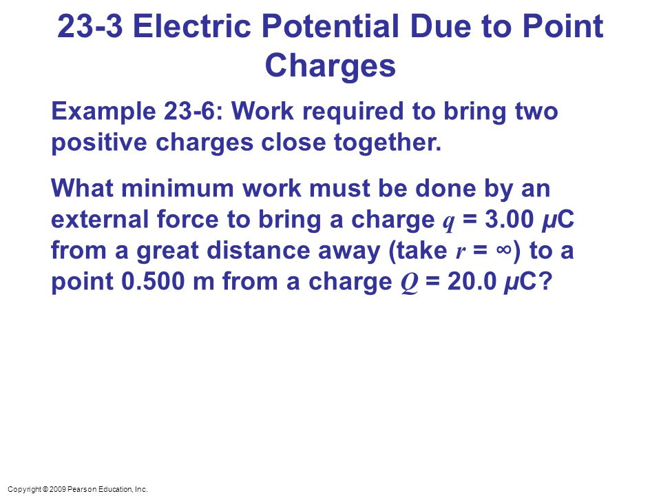 23-3 Electric Potential Due to Point Charges