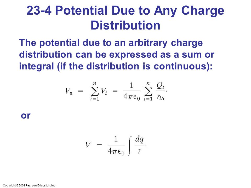 23-4 Potential Due to Any Charge Distribution