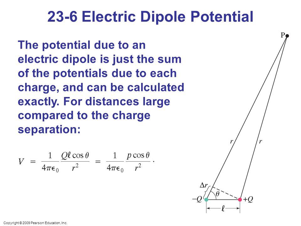 23-6 Electric Dipole Potential