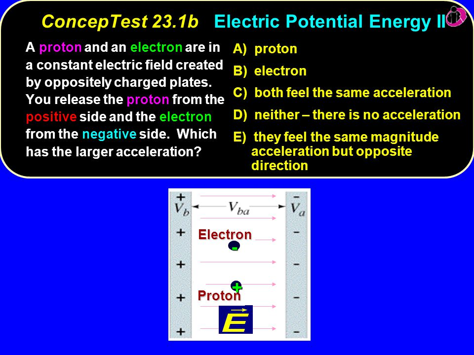ConcepTest 23.1b Electric Potential Energy II