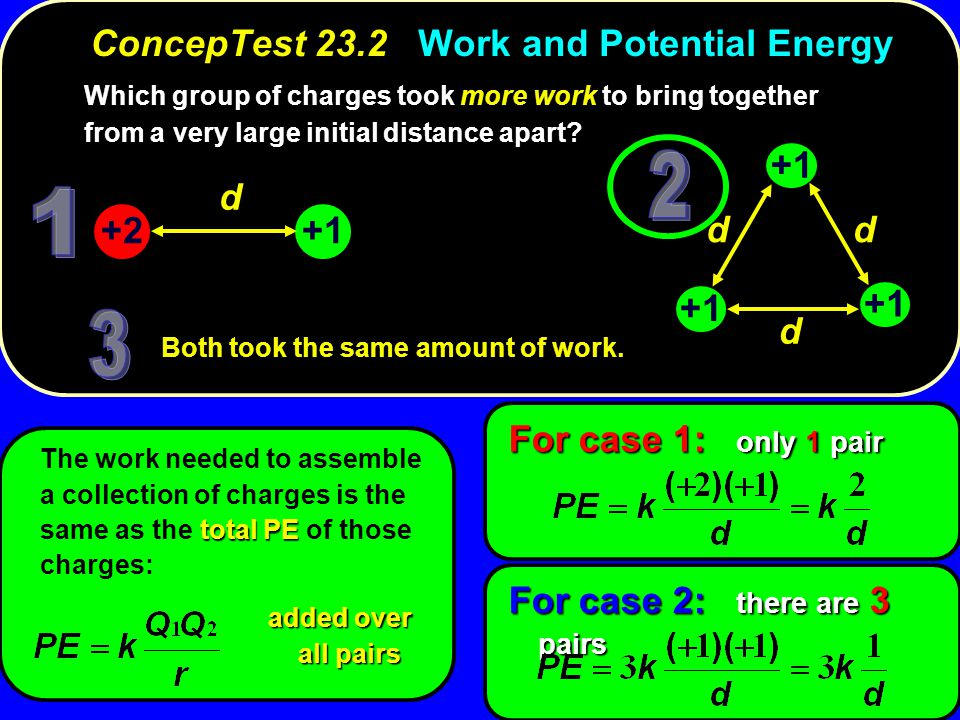 ConcepTest 23.2 Work and Potential Energy