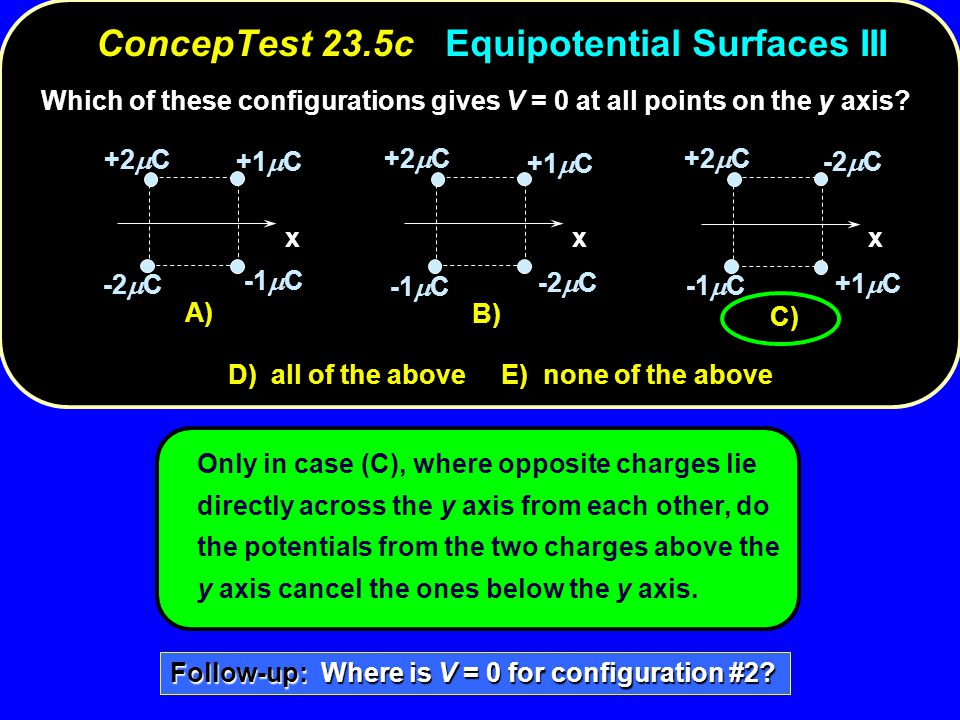ConcepTest 23.5c Equipotential Surfaces III