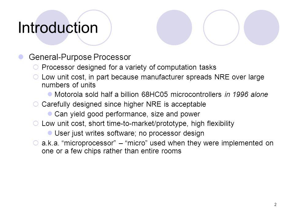 Introduction General-Purpose Processor