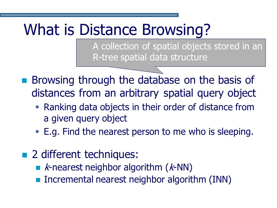 What is Distance Browsing