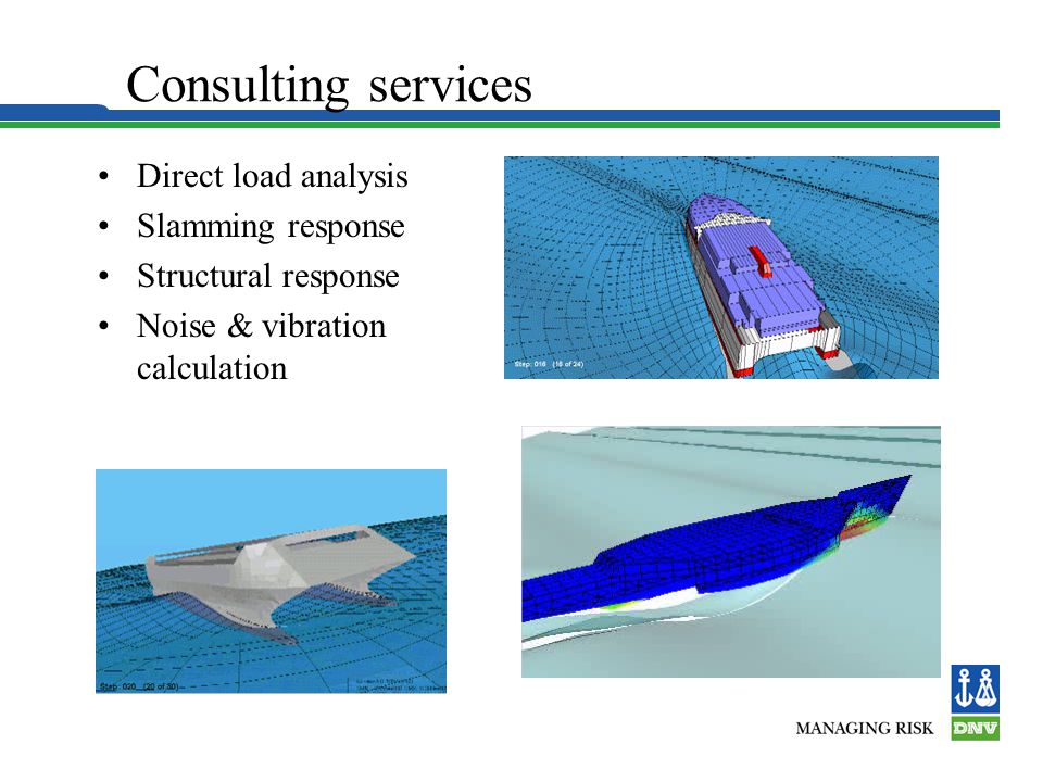 Consulting services Direct load analysis Slamming response