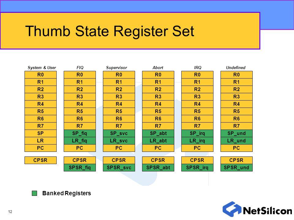 Thumb State Register Set