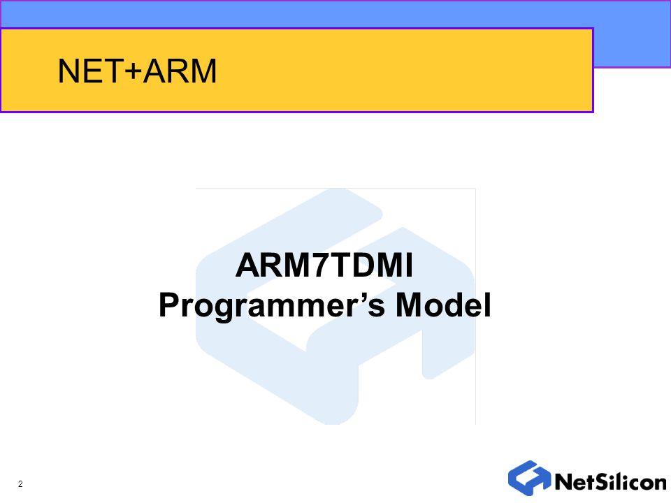 NET+ARM ARM7TDMI Programmer's Model