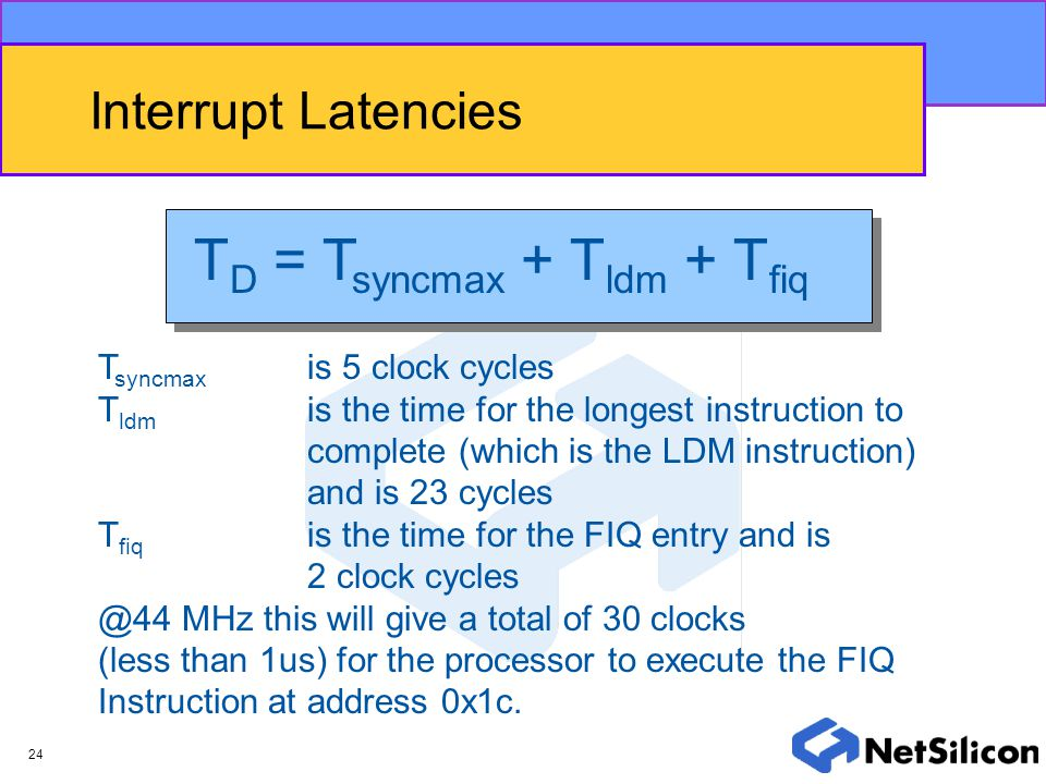 TD = Tsyncmax + Tldm + Tfiq