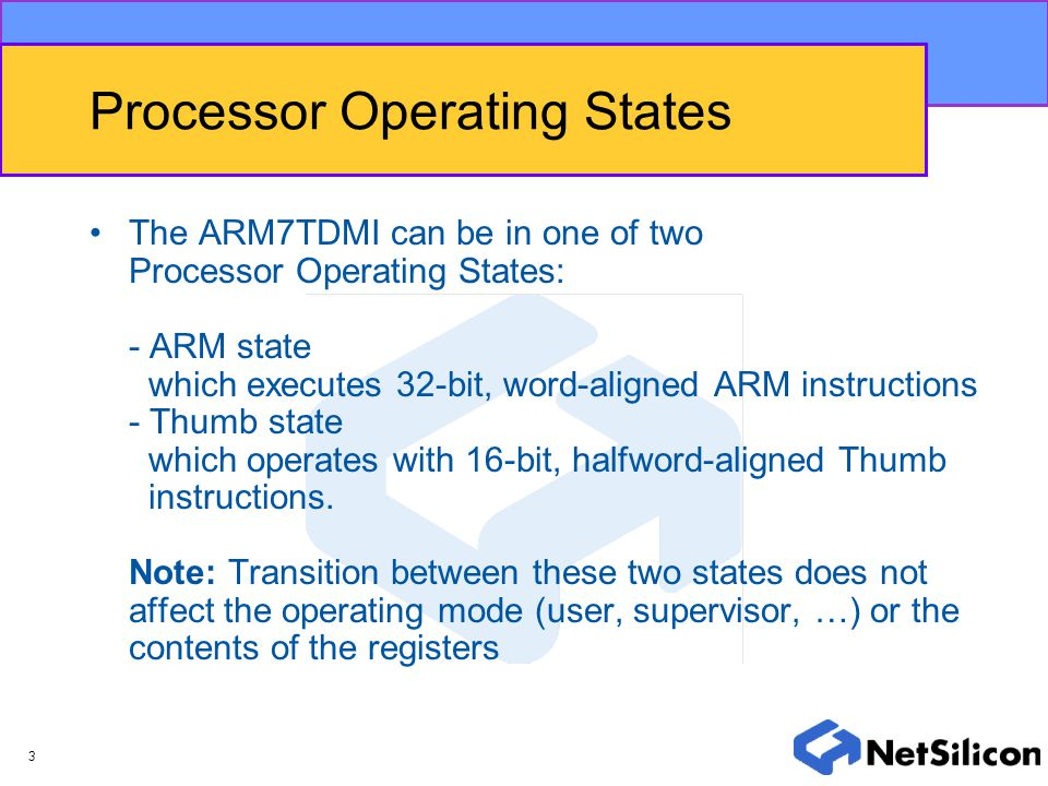 Processor Operating States