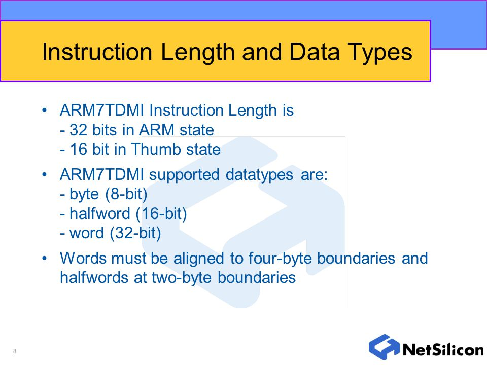 Instruction Length and Data Types
